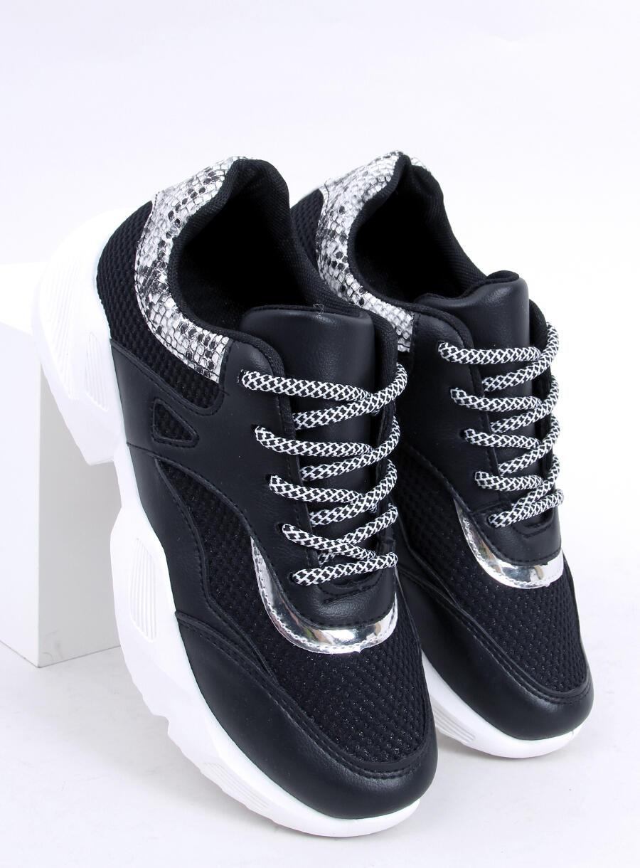 Buty sportowe damskie czarne BL192P BLACK   Sklep