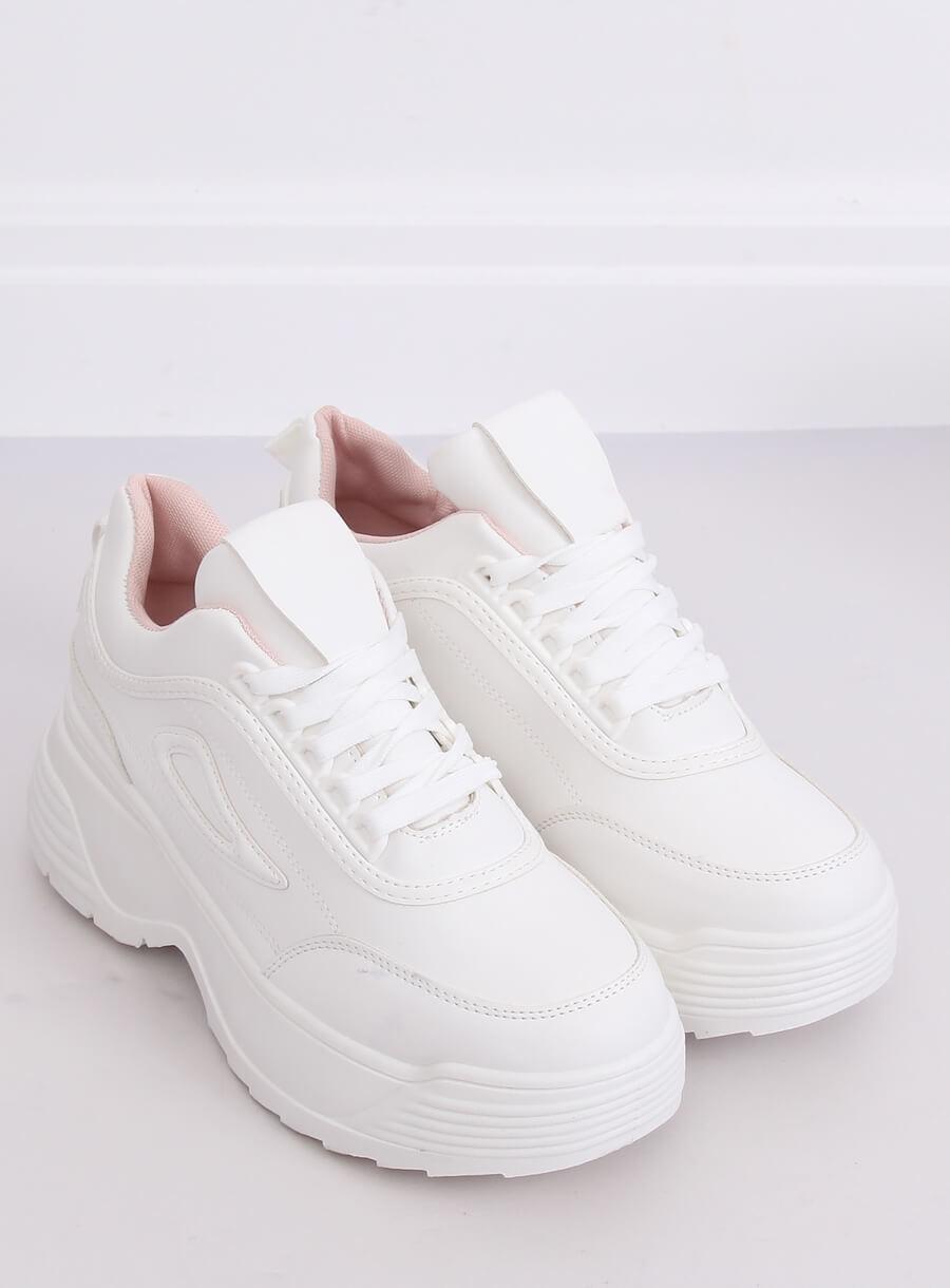 Buty sportowe wysoka podeszwa białe LA78P 1 Pink