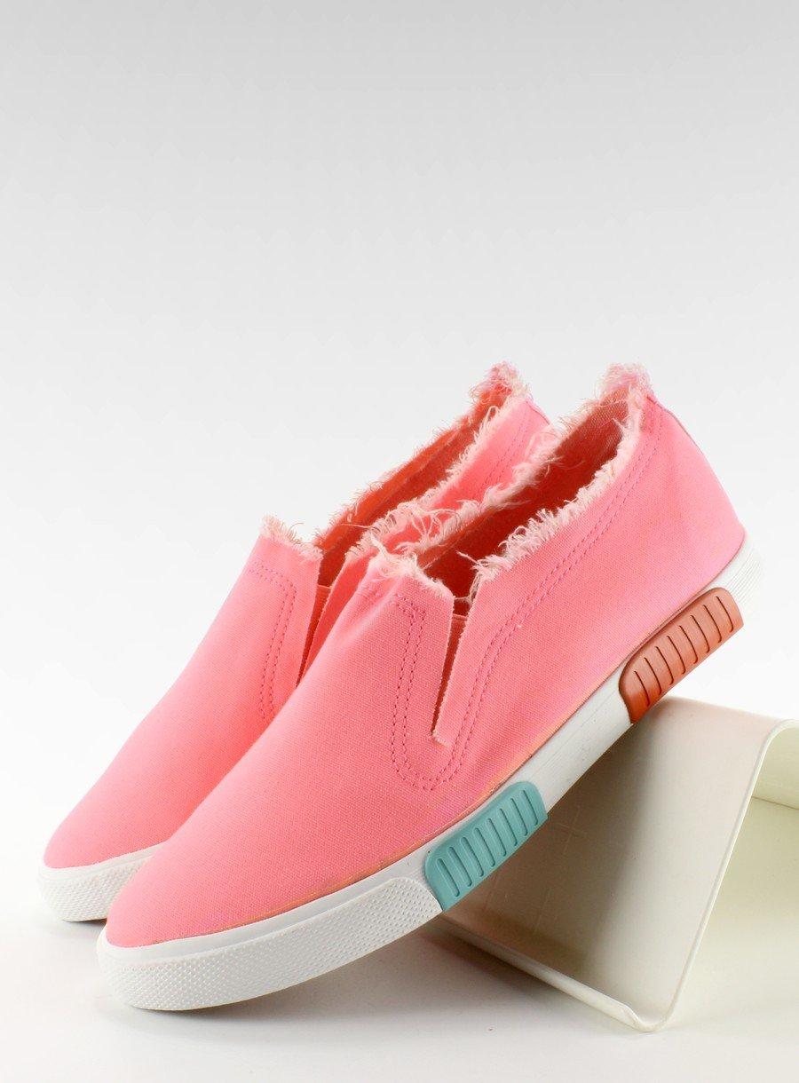 Trampki jeans kolorowa podeszwa BL65 Pink | Sklep