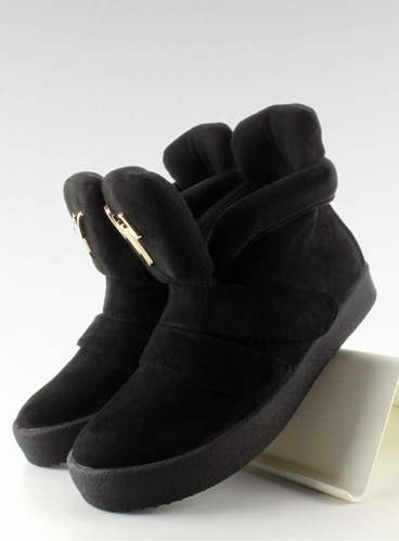 Sneakersy zamsz GF-jx29 Black