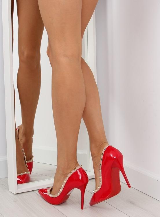 Czółenka na szpilce Valentina czerwone LL-76P Red