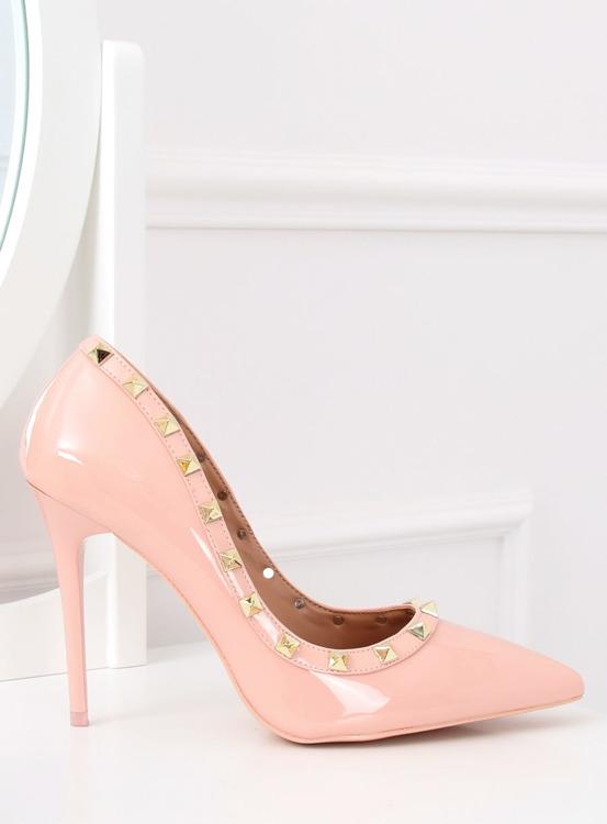 Czółenka na szpilce Valentina różowe LL-76P Pink