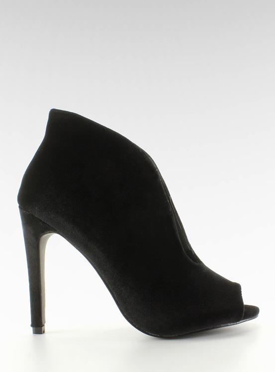 Aksamitne czółenka botki 8751 Black