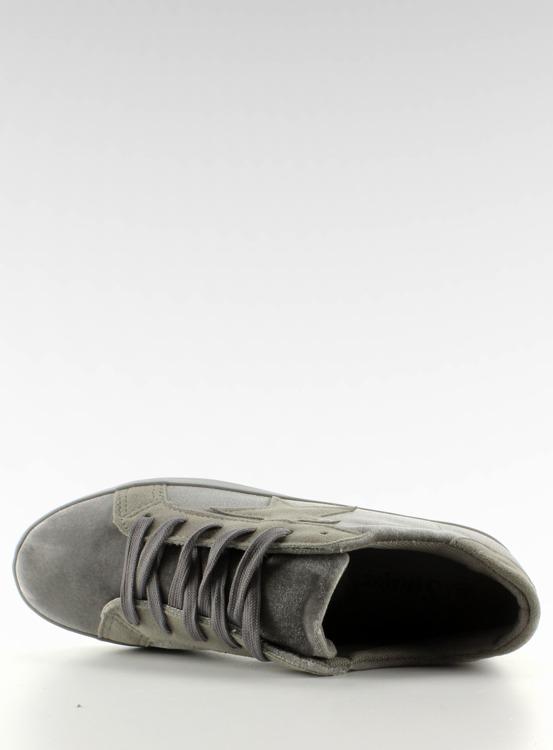 Aksamitne trampki BL70P Grey
