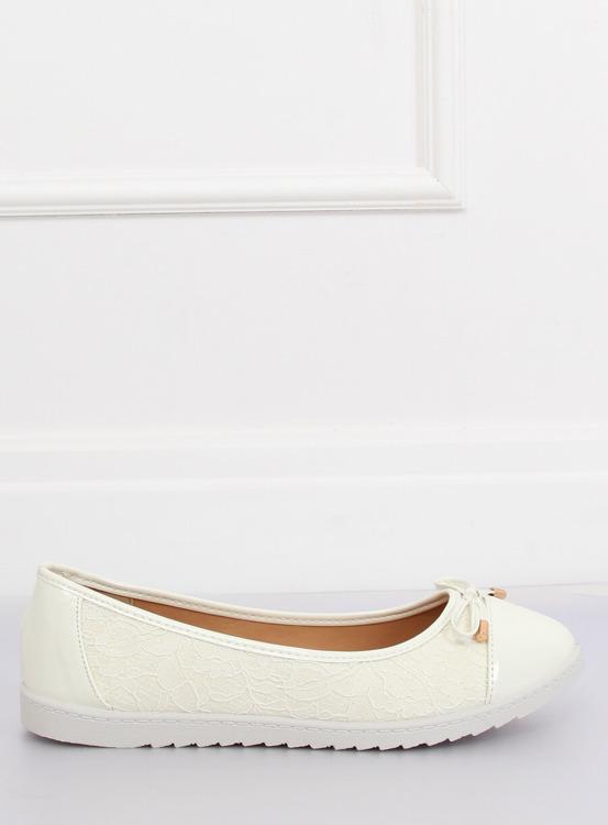 Balerinki damskie białe 7846-P WHITE