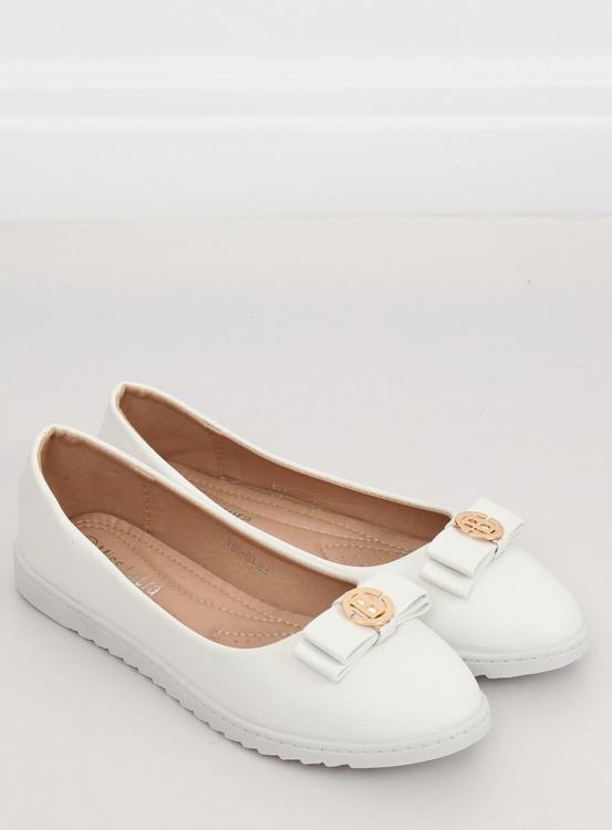 Balerinki damskie białe YSD-03 WHITE