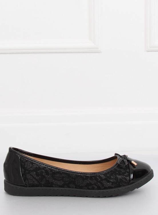 Balerinki damskie czarne 7846-P BLACK