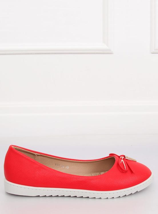 Balerinki damskie czerwone YSD-04 RED