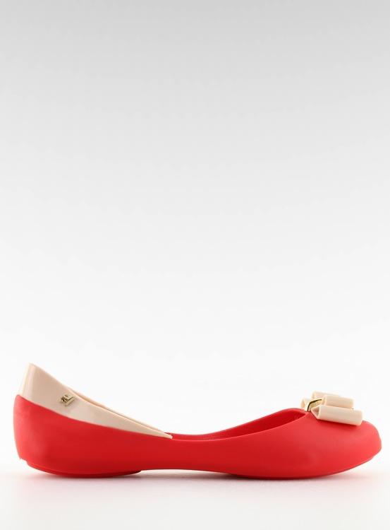 Balerinki meliski czerwone KM98 RED/D.BEIGE