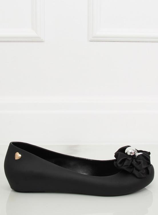 Balerinki meliski z kokardą czarne CK-86P BLACK