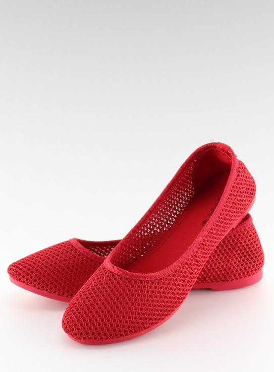 Balerinki siateczkowe czerwone JX56 RED