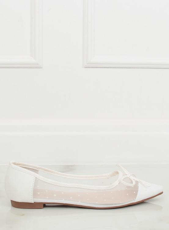 Baleriny damskie białe LT119P WHITE
