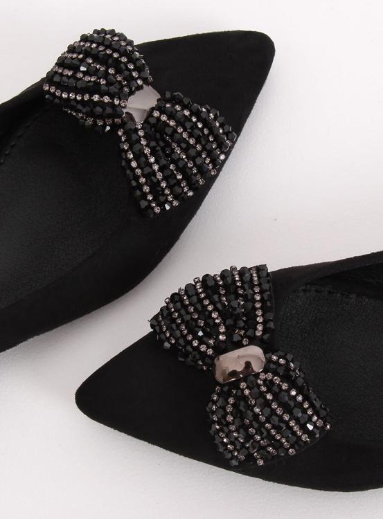Baleriny damskie czarne 1685 BLACK
