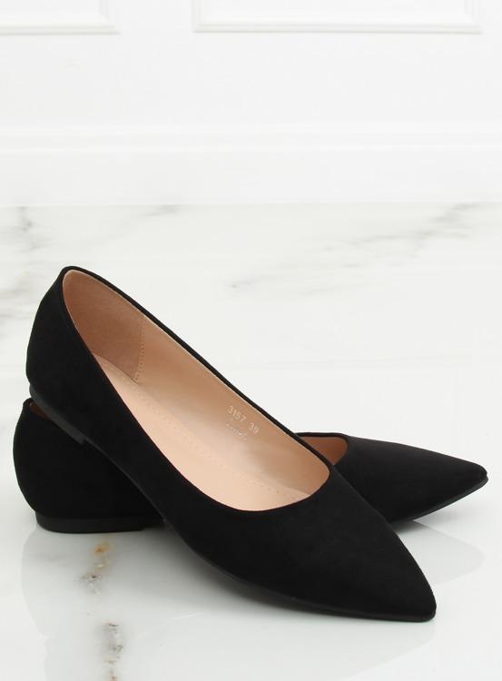 Baleriny damskie czarne 3157 BLACK