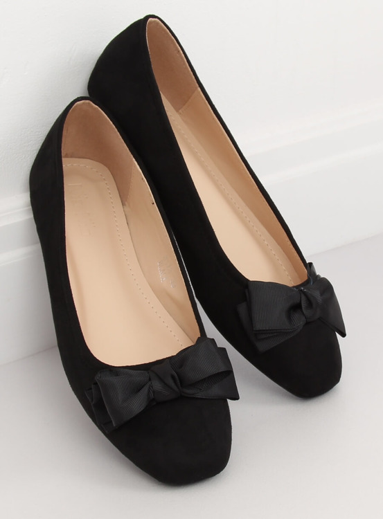 Baleriny damskie czarne 3173 BLACK