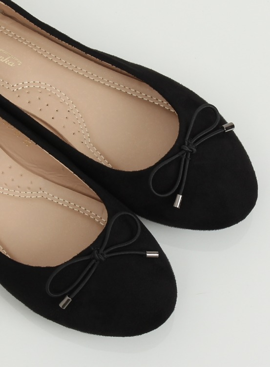 Baleriny damskie czarne 3C-10 BLACK