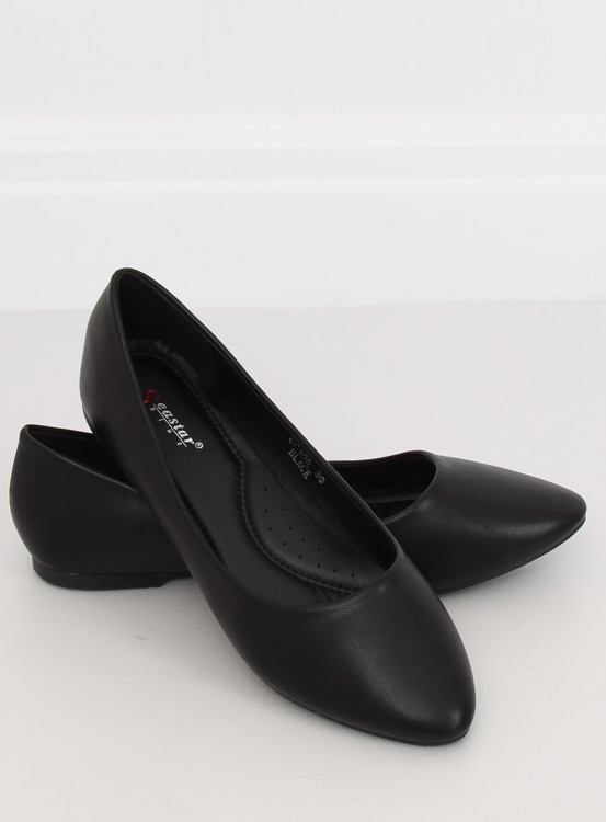 Baleriny damskie czarne CC108 BLACK