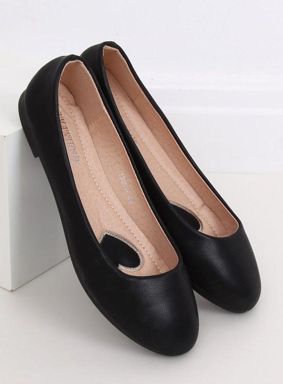 Baleriny damskie czarne YSD817 BLACK