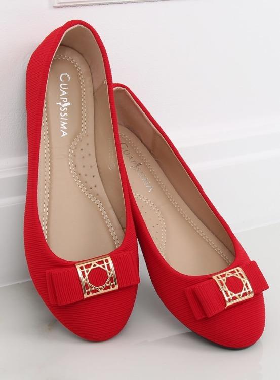 Baleriny damskie czerwone JM6675Q ROJO
