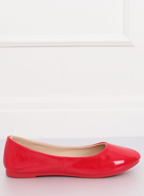 Baleriny damskie czerwone JX76P RED
