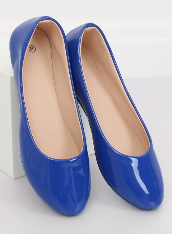 Baleriny damskie kobaltowe JX76P T.BLUE