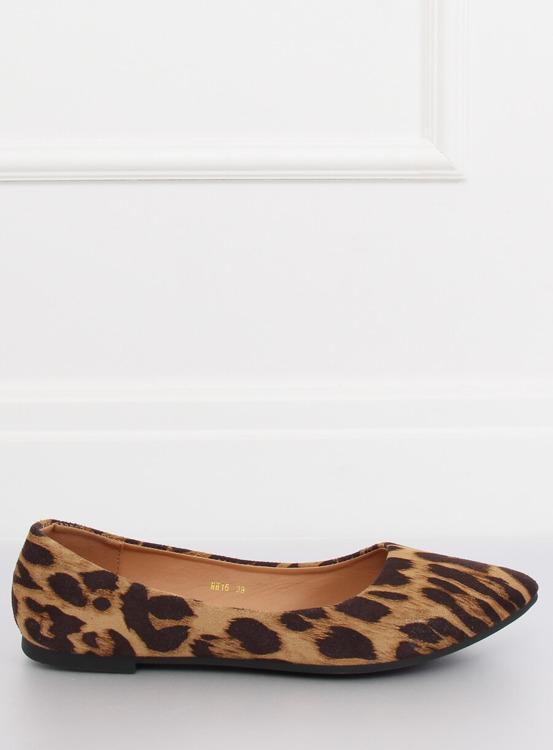 Baleriny damskie leopard HH16 LEOPARD