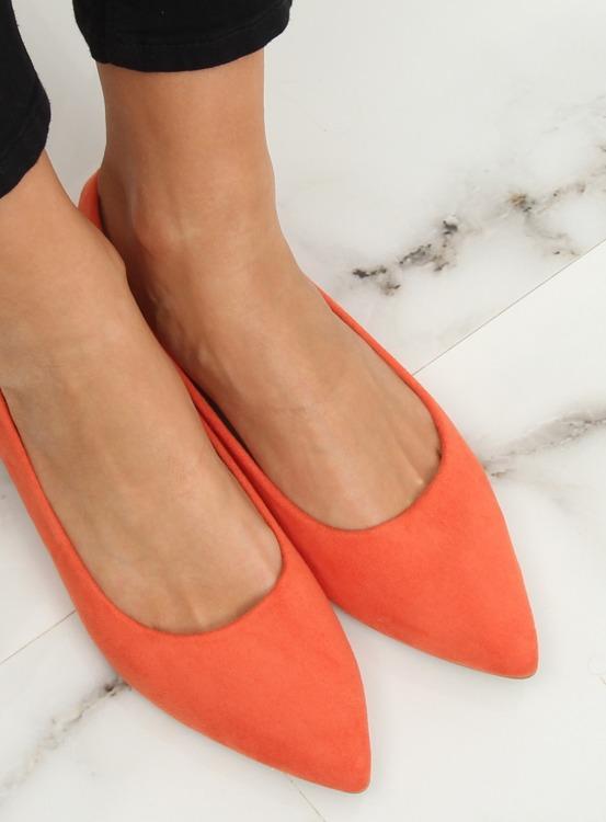 Baleriny damskie pomarańczowe 3157-BAL ORANGE