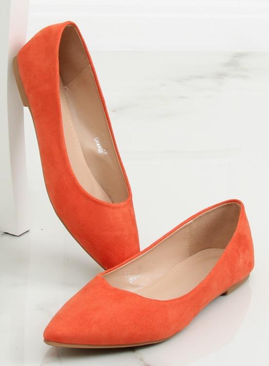 Baleriny damskie pomarańczowe 3157 ORANGE