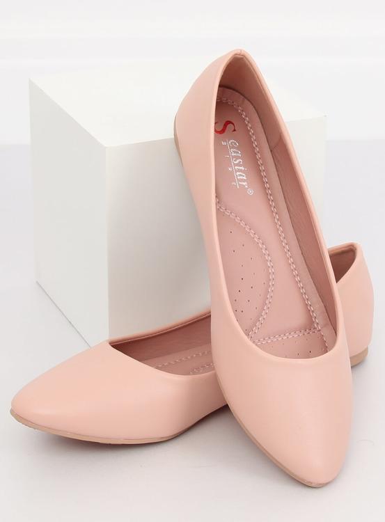 Baleriny damskie różowe CC108 PINK