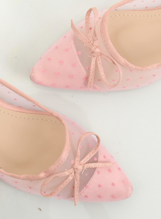 Baleriny damskie różowe LT119P PINK
