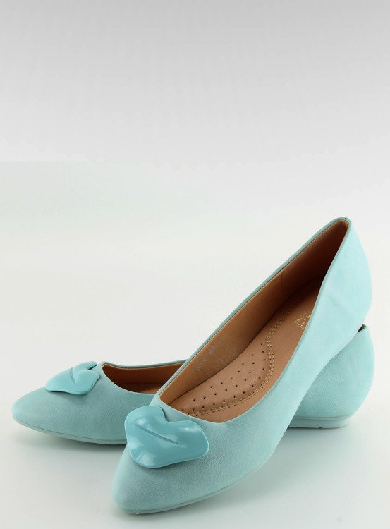 Baleriny damskie sweet lips niebieskie FM217-6 BLUE