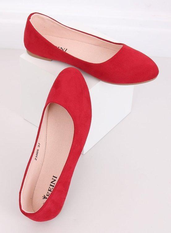 Baleriny gładkie czerwone Z1005 RED
