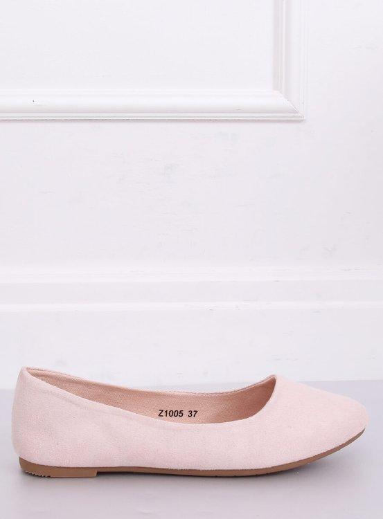 Baleriny gładkie różowe Z1005 PINK