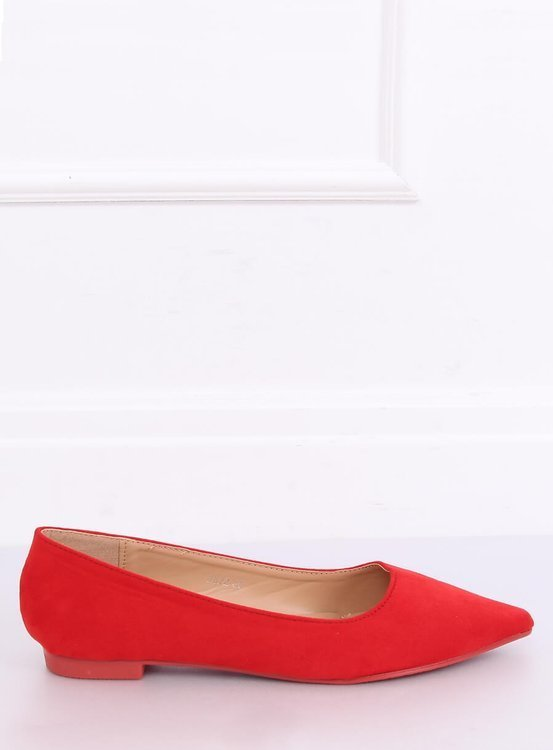 Baleriny w szpic czerwone A822 RED