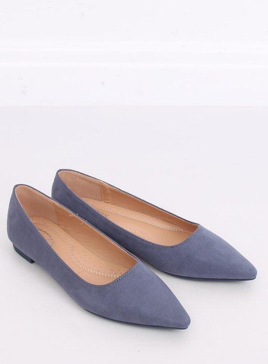 Baleriny w szpic niebieskie A822 BLUE