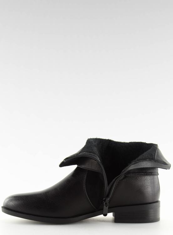 Botki damskie czarne 1046-PA BLACK