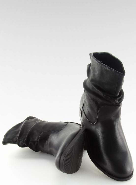 Botki damskie czarne 1127-PA BLACK