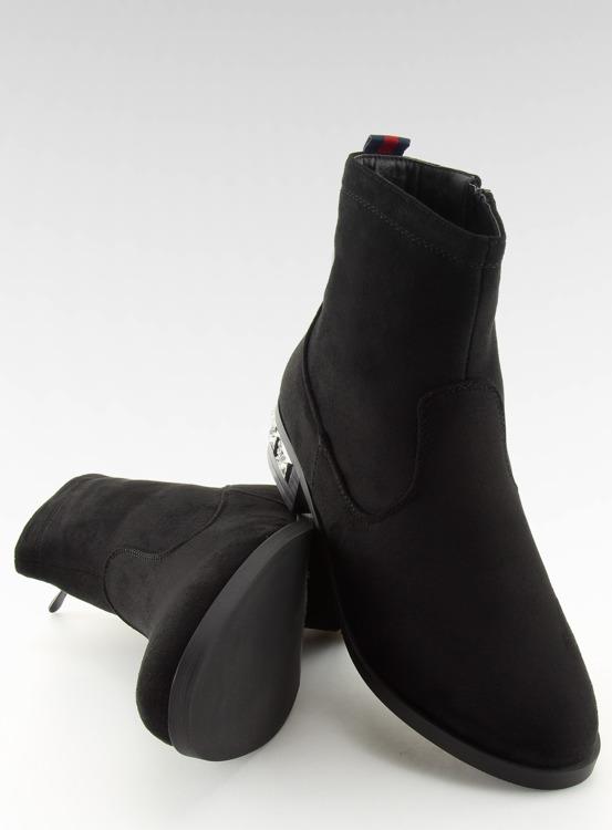 Botki damskie czarne 168-176 BLACK