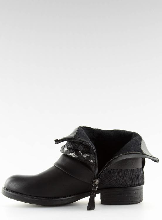 Botki damskie czarne 210-PA BLACK