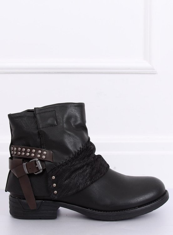Botki damskie czarne 283-PA BLACK