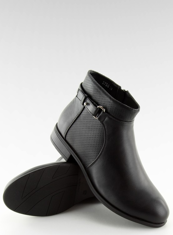 Botki damskie czarne 3756 BLACK