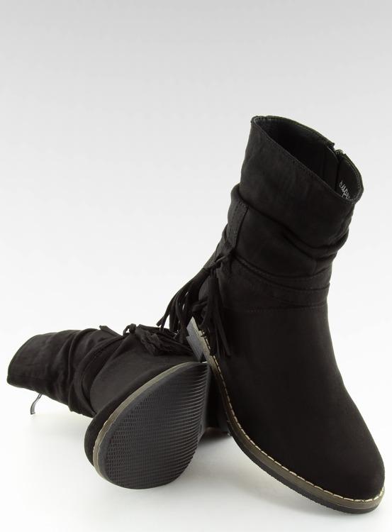 Botki damskie czarne 4169 BLACK