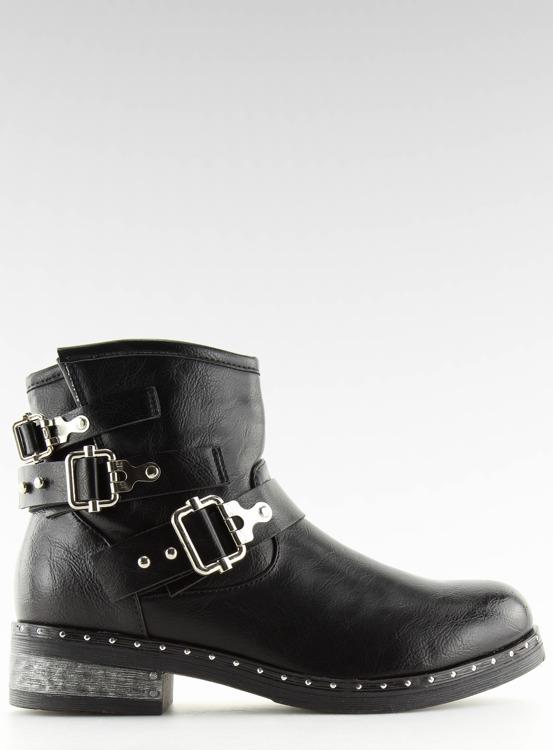 Botki damskie czarne 7313-PA BLACK