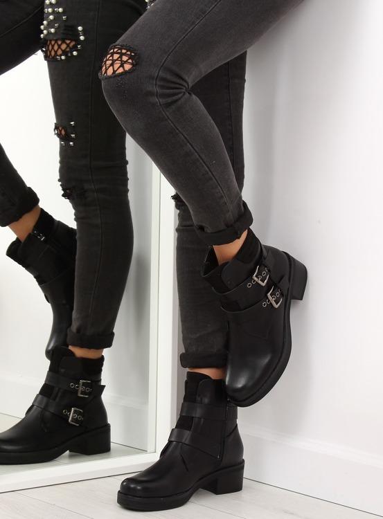 Botki damskie czarne 7B706 BLACK