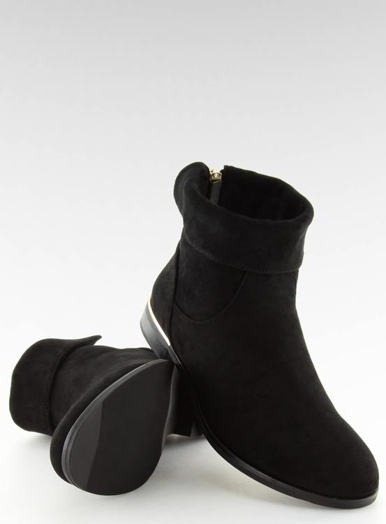 Botki damskie czarne J905 BLACK