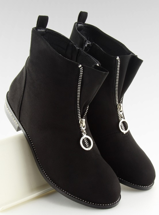 Botki damskie czarne LL6300 BLACK
