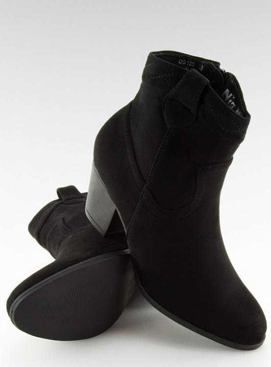Botki damskie czarne QQ120 BLACK
