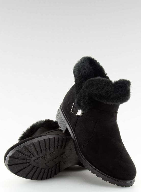 Botki damskie czarne SJ1821-1 BLACK