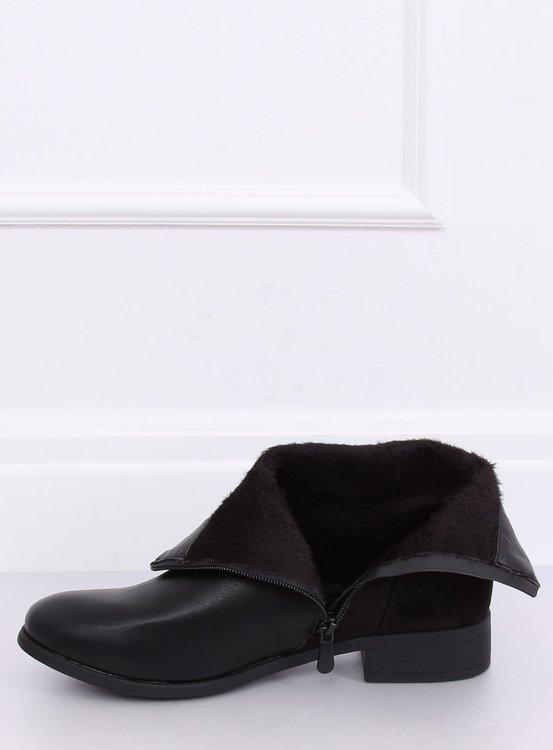Botki damskie czarne VQ6-5 BLACK