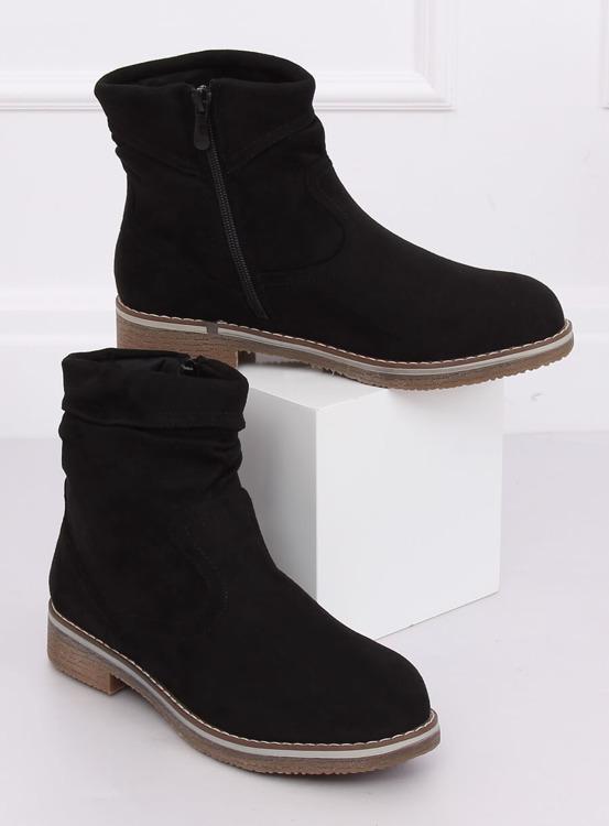 Botki damskie czarne W862 BLACK